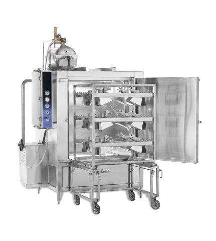 HD-12-SPW with-Bucket-Rack-loaded Model Commercial Dishwasher Manufacturer Brand Partner Douglas Washing and Sanitizing Systems Safer Cleaner Faster Industrial Dishwasher Restaurant Dishwasher Food Industry Cleaning Machines