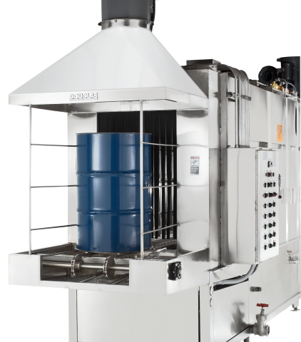 Barrel and Drum Tunnel Washer Model Commercial Dishwasher Manufacturer Brand Partner Douglas Washing and Sanitizing Systems Safer Cleaner Faster Industrial Dishwasher Restaurant Dishwasher Food Industry Cleaning Machines