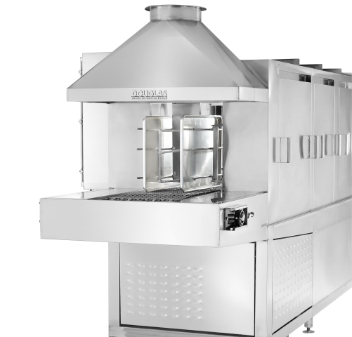 2 Lane Sheet Pan Tunnel Washer Model Commercial Dishwasher Manufacturer Brand Partner Douglas Washing and Sanitizing Systems Safer Cleaner Faster Industrial Dishwasher Restaurant Dishwasher Food Industry Cleaning Machines